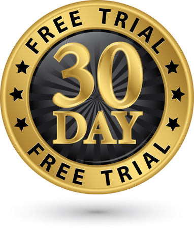 47358883 - 30 day free trial golden label, vector illustration