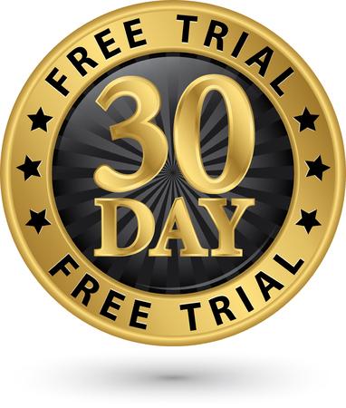 47358883 - 30 day free trial golden label, vector illustration