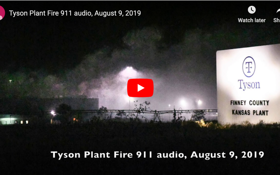 Tyson oil fire